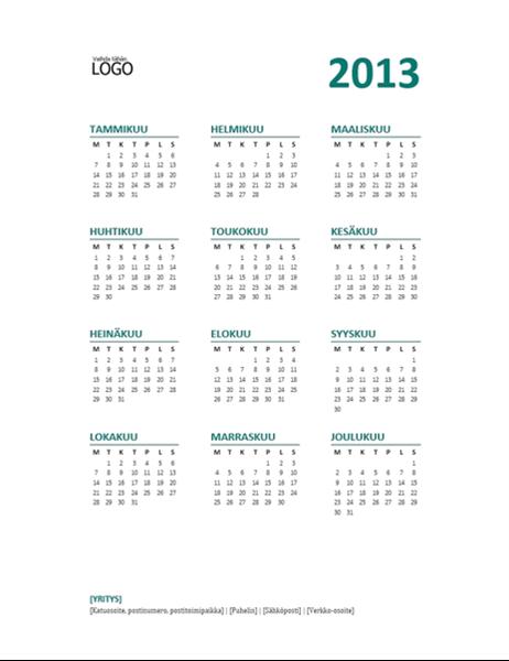 Vuosikalenteri 2013 (ma-su-muoto)