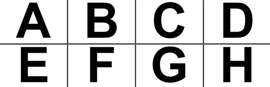 Kirjaimet ja numerot -juliste (11 x 17 tuumaa)