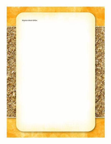 Kirjepohja (aurinko ja hiekka -malli)