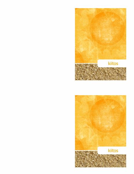 Kiitoskortti (aurinko ja hiekka -malli)