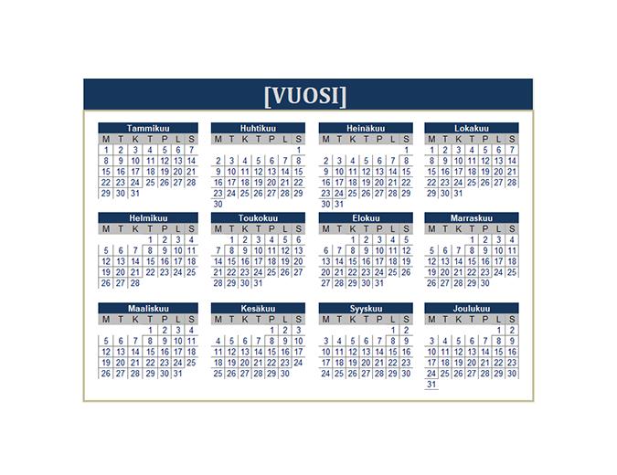 Kalenteri (mikä tahansa vuosi)