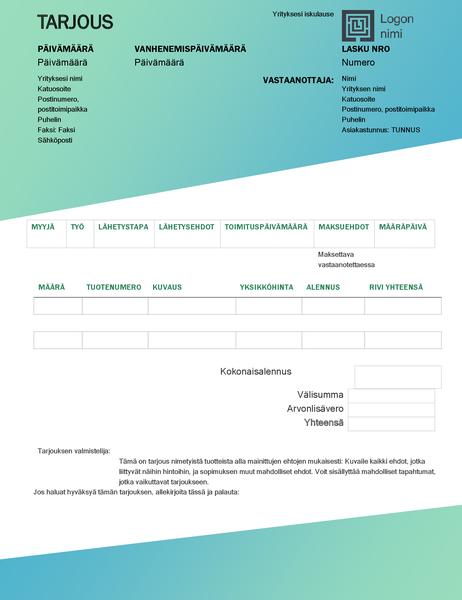 Myyntitarjous (vihreä liukuvärikuvio)