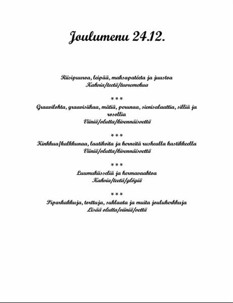 Joulumenu