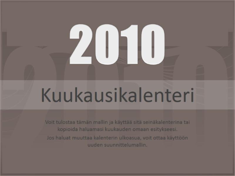 Vuoden 2010 kalenteri (ma–su)
