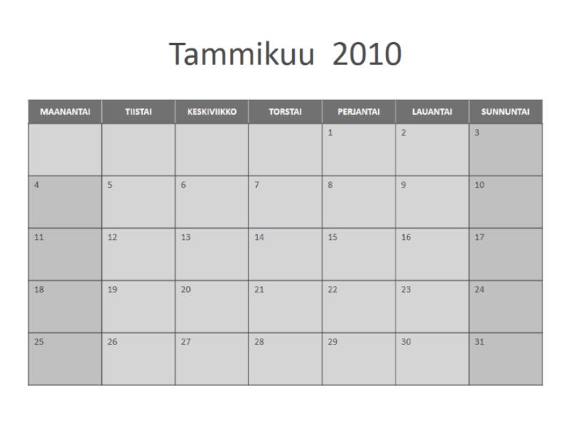 Kalenteri 2010 (ma - su)