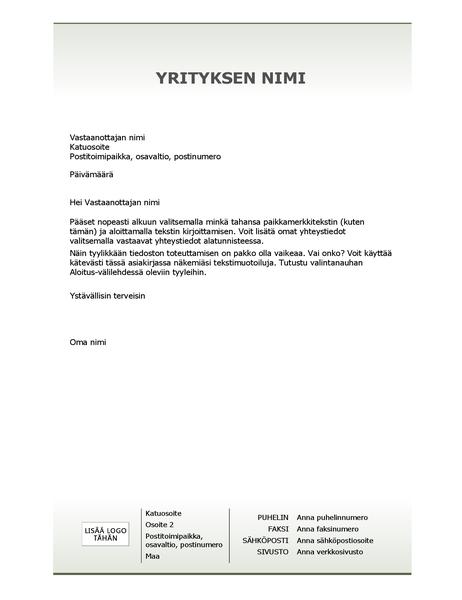 Yrityksen kirjelomakemalli (yksinkertainen rakenne)