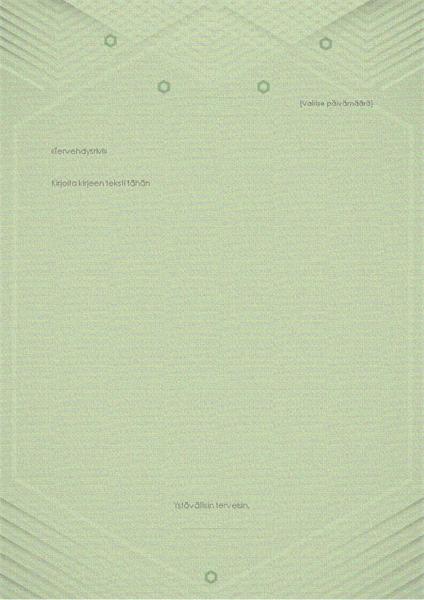 Malli henkilökohtaisia malleja varten (tyylikäs harmaanvihreä ulkoasu)
