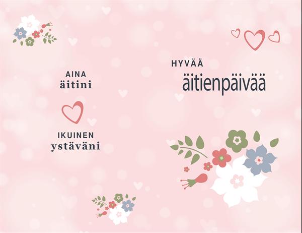 Vaaleanpunainen unelma -äitienpäiväkortti