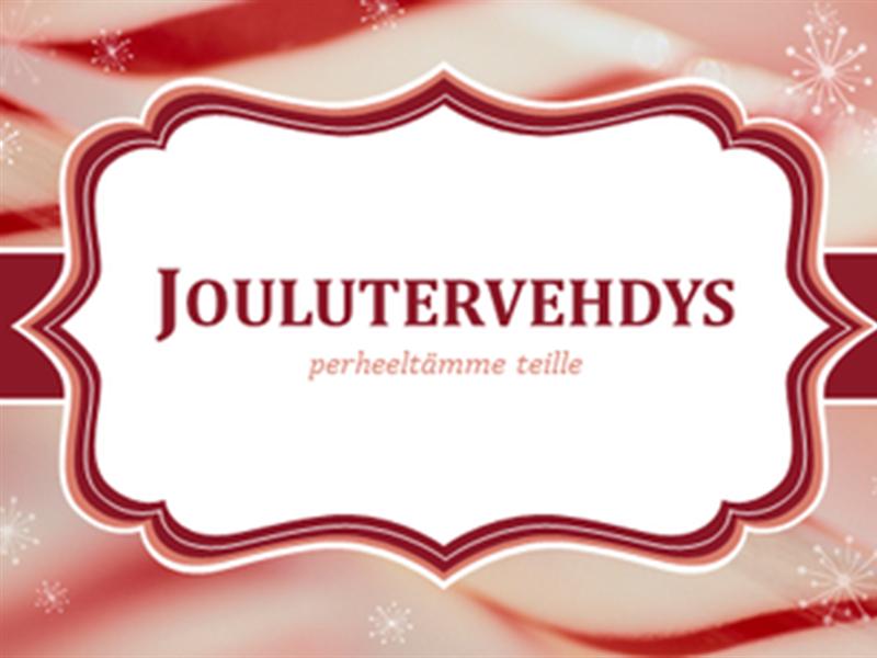 Joulukortit, joissa on tikkukaramellin pyörrekuvioita (2 yhdellä sivulla)