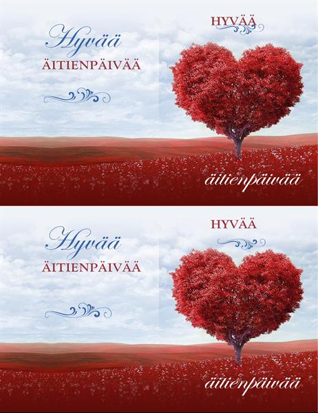 Sydänpuu-äitienpäiväkortti