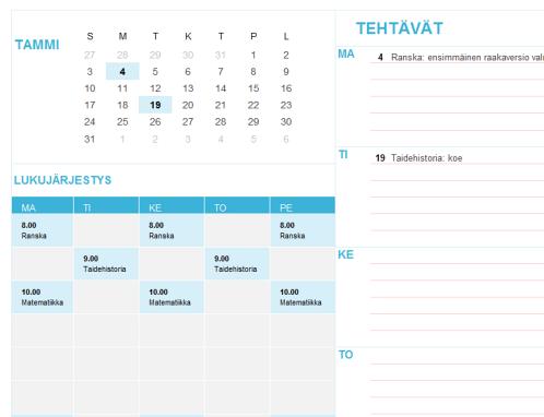 Opiskelijakalenteri