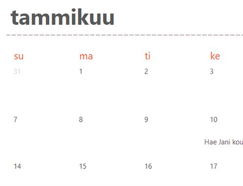 Ikuinen kalenteri (valkoinen)