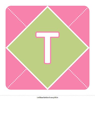 Onnea tyttövauvalle -nauha (vaaleanpunainen, violetti, vihreä)