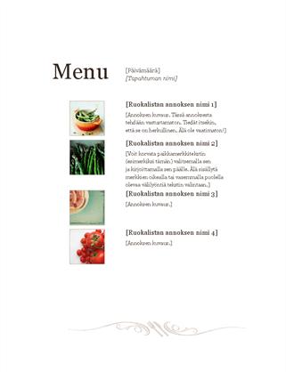 Ravintolan ruokalista