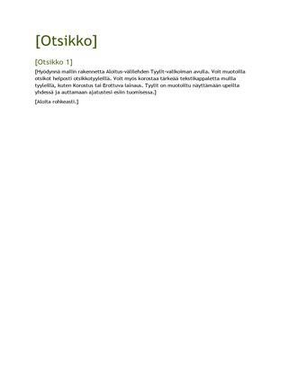 Yksinkertainen ulkoasu -malli (tyhjä)