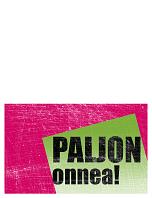 Syntymäpäiväkortti, naarmutettu tausta (pinkki, vihreä, taitettava)