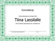 Stipendi (virallinen, vihreä reunus)