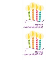 Syntymäpäiväkortit