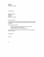 Työpaikkahakemuksen saatekirje, lyhyt