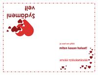 Ystävänpäiväkortti (sydänmalli)