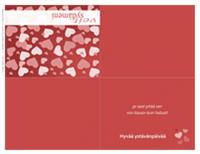 Ystävänpäiväkortti (taitettu nelinkerroin)