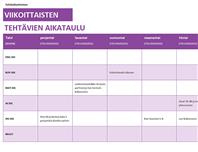 Harjoituspäiväkirja malli