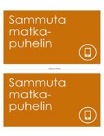 Matkapuhelinten sammutuksen muistutusjuliste (oranssi)