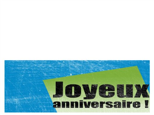 Verjaardagskaart, achtergrond met krassen  (blauw, groen, dubbelgevouwen)