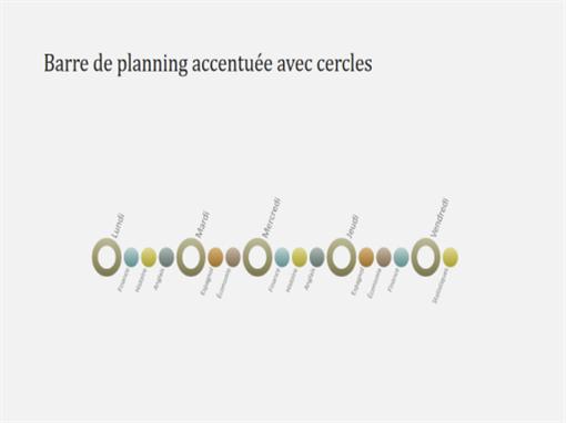 Dia met tijdlijnschema voor gebeurtenissen (breedbeeld)