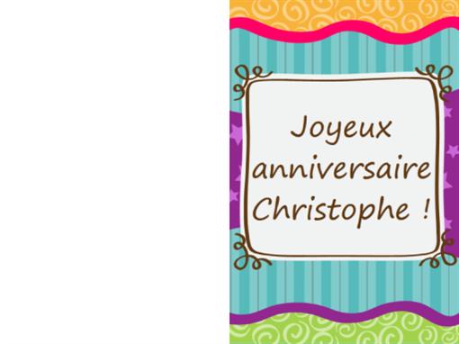 Verjaardagskaart - sterren en strepen (kinderen, dubbelgevouwen)