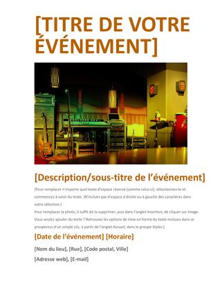 Prospectus d'événement (orange)