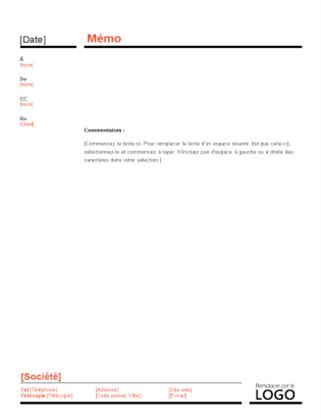 Zakelijke memo (ontwerp Rood en zwart)