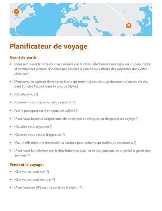 Planificateur de voyage