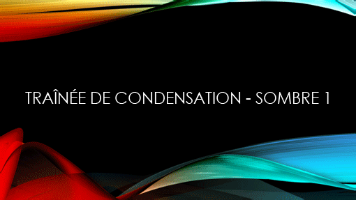 Traînée de condensation - Sombre1