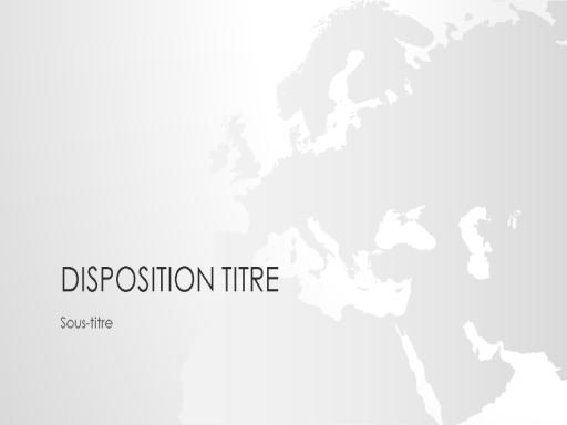 Présentation de la série Cartes du monde, Europe (grand écran)