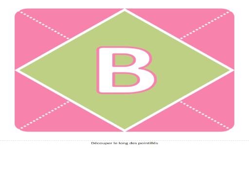 Bannière Bienvenue au bébé (fille) (rose, violet, vert)