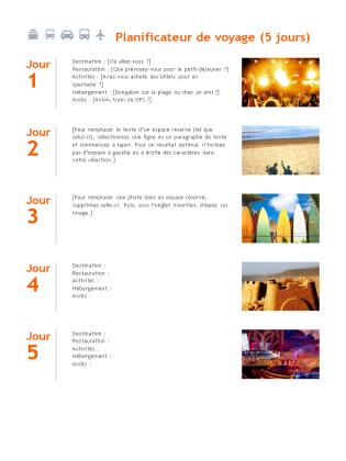 Planificateur de voyage office templates for Planificateur de cuisine gratuit