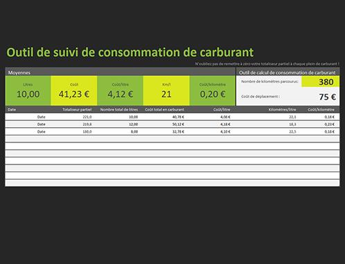 Journal de consommation d'essence
