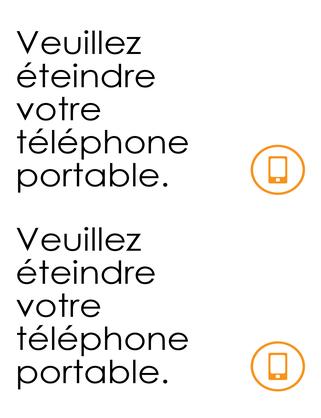 Rappel de la nécessité d'extinction des téléphones portables