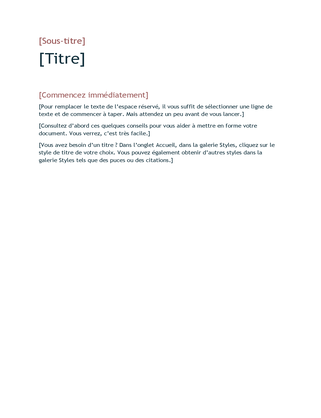 Modèle vide (conception Basique)