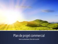 Présentation de plan de projet commercial (grand écran)