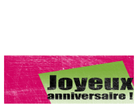 Carte d'anniversaire avec arrière-plan rayé (rose, vert, deux volets)