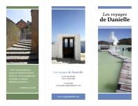 Brochure de voyage à trois volets (bleu, vert)