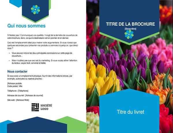 Brochure avec fleurs