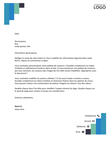 Blue steps letterhead