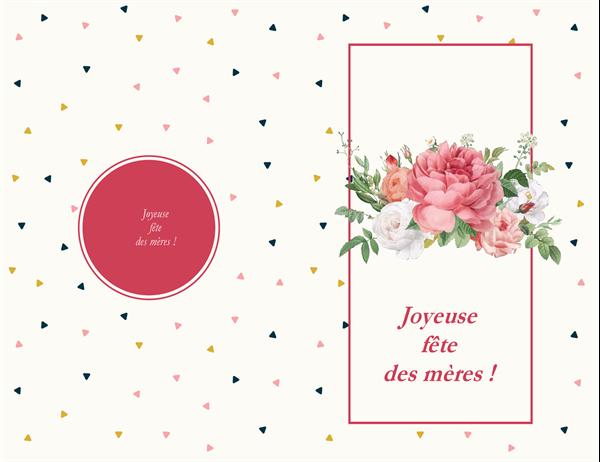 Carte de fête des mères, roses rétro