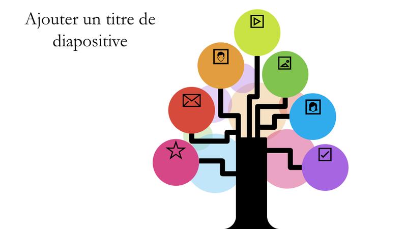 Multi-color tree diagram