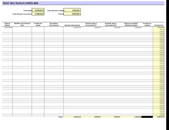 Patient's medical bill tracker