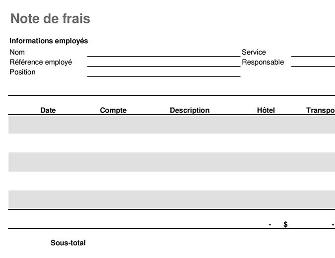 Travel expense statement