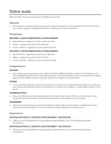 liste de r u00e9f u00e9rences pour un cv  conception fonctionnelle
